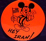 "Mickey Mouse says ""Hey Iran! F-YOU!"""